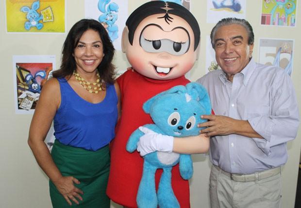 Mônica e Mauricio de Sousa