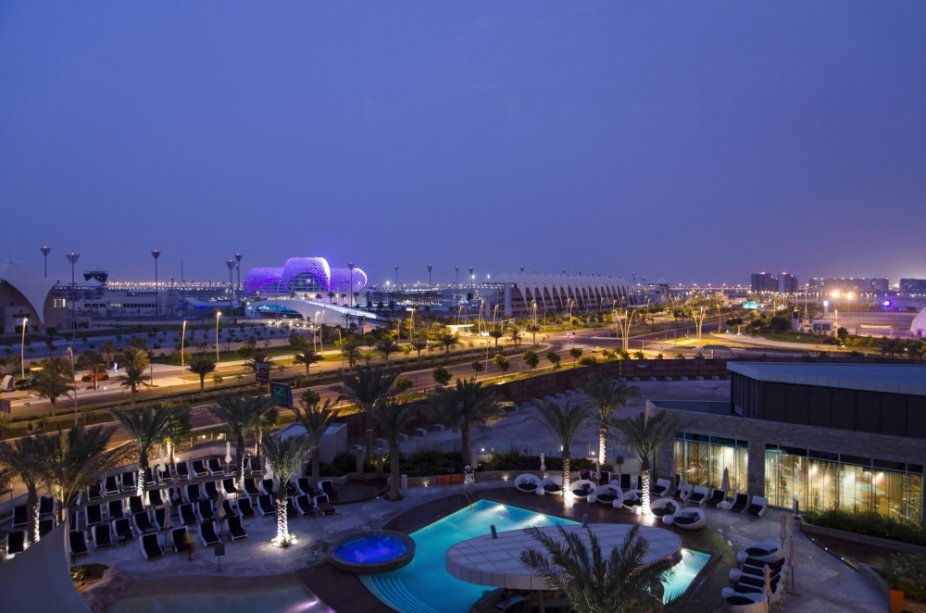 A ilha artificial Yas, em Abu Dhabi