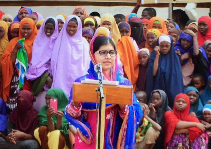 Reprodução/Twitter/Malala Fund