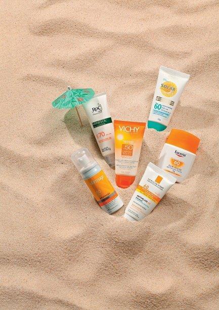 Protetor solar na areia
