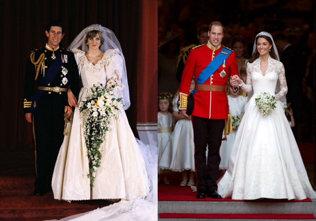 lady di e principe charles x kate middleton e principe william os detalhes dos casamentos reais claudia lady di e principe charles x kate