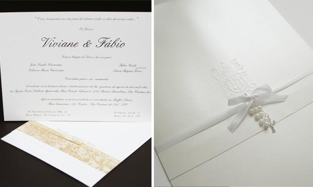 Convite de casamento discreto