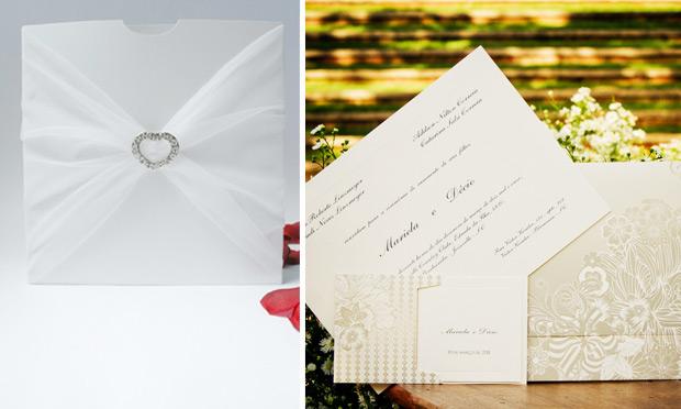 Convite de casamento com toque pessoal