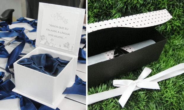 Convite de casamento em caixinhas
