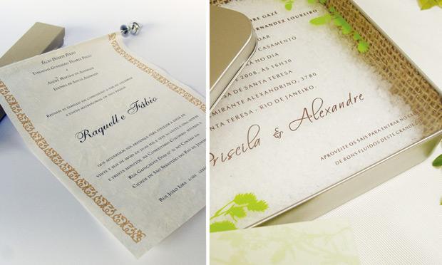 Convite de casamento criativo