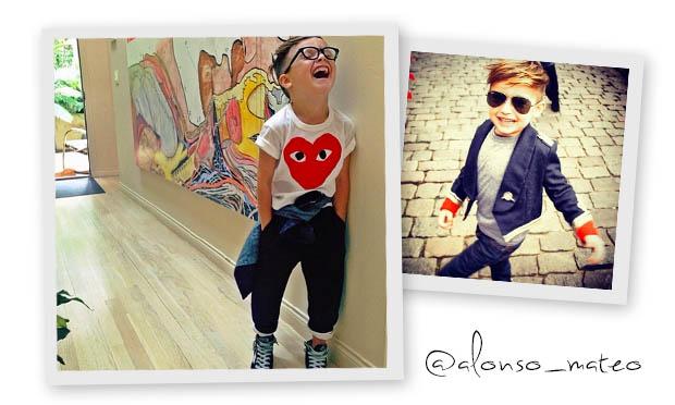 Crianças estilosas no Instagram