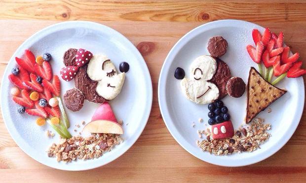Food Art Mickey e Minnie