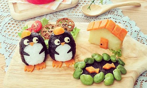 Food Art Pinguins