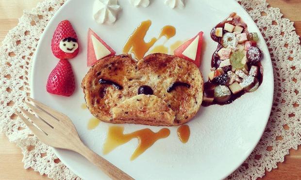 Food Art Chapeuzinho Vermelho e o Lobo Mau
