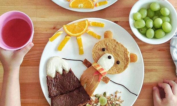 Food Art Ursinho na montanha