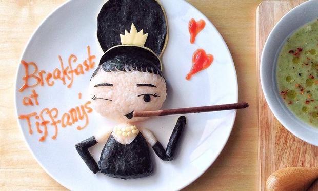 Food Art Audrey Hepburn