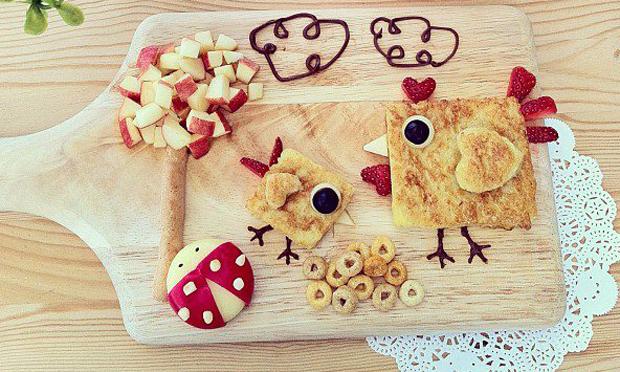 Food Art Passarinhos