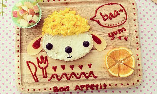 Food Art Ovelha faminta