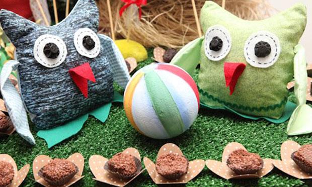 Decoração para festa de aniversário infantil Corujinhas