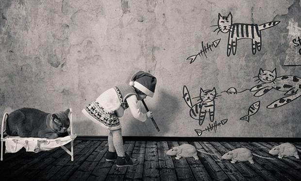 Foto da série Little Girl and Tomcat