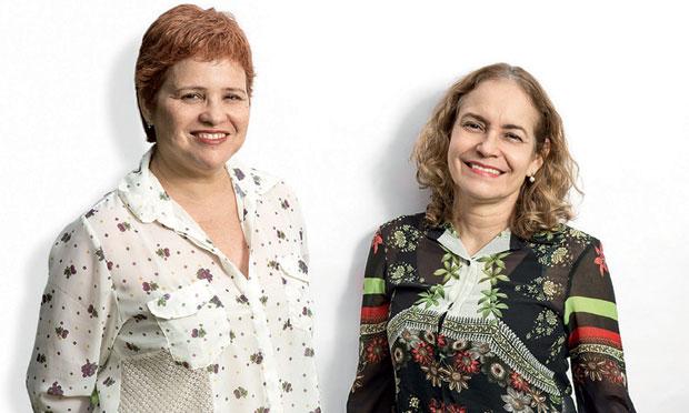 Maria Amélia Mamede e Rachel Gadelha