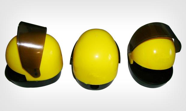 Apontador capacete de corrida
