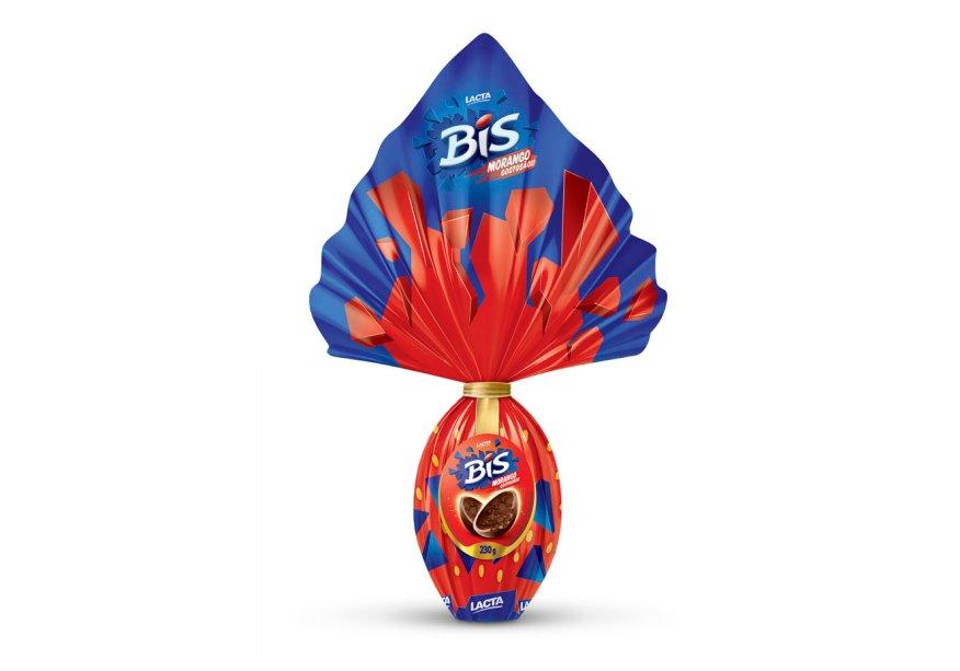 Ovo Bis® Morango (230g), Lacta, R$ 26,90*
