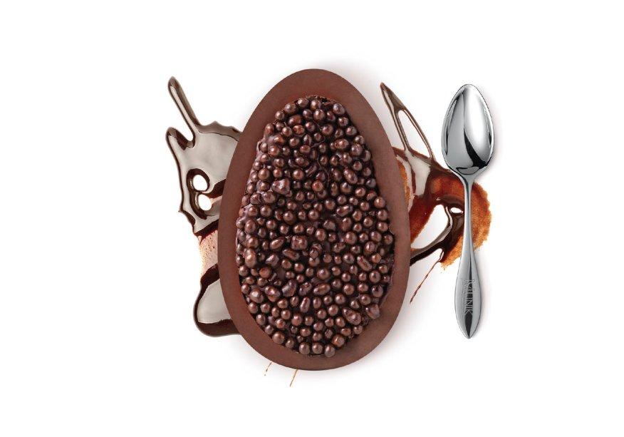 Ovo de colher Pão de Mel Licor (180g) de chocolate ao leite recheado com pão de mel sabor licor, Munik, R$ 33*