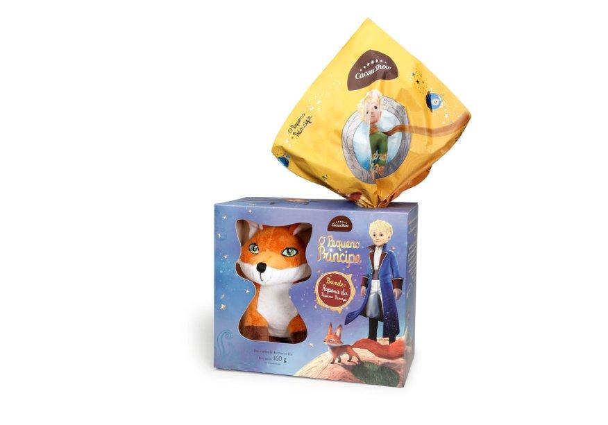 Ovo Pequeno Príncipe (160g) de chocolate ao leite com raposa de pelúcia, Cacau Show, a partir de R$ 33,90*