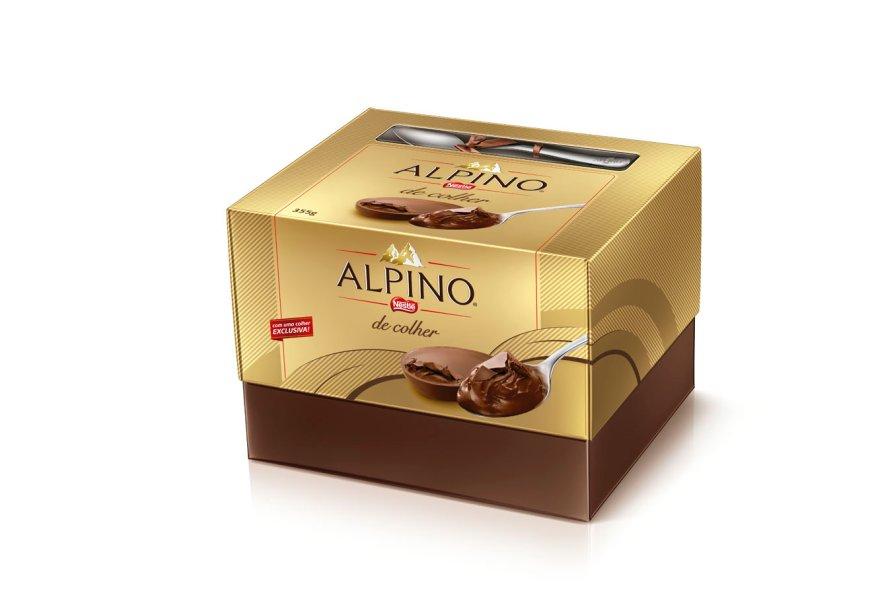 Ovo Alpino de colher (355g) de chocolate ao leite Alpino®, Nestlé, R$ 59,90*