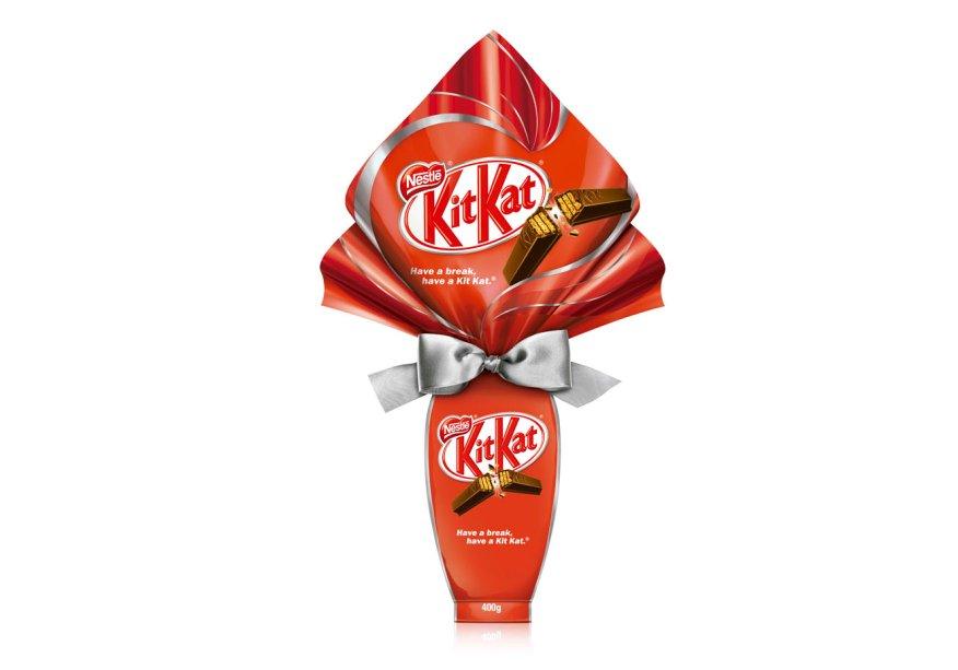 Ovo Kit Kat (400g) recheado com tabletes de Kit Kat®, Nestlé, R$ 54,99*
