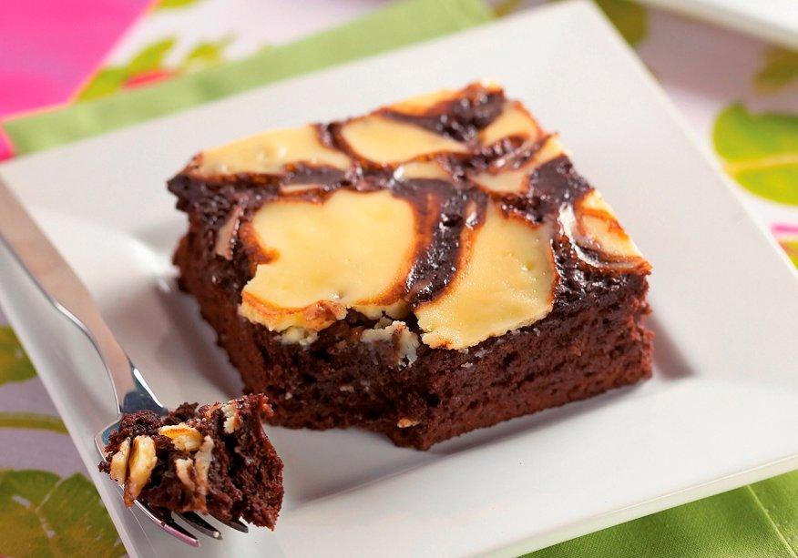 Pudim-brownie
