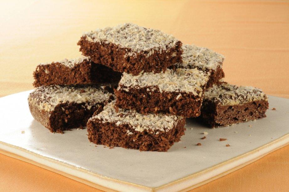 Brownie de chocolate e coco