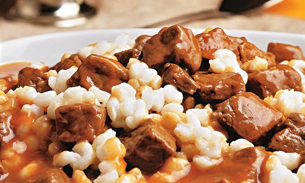 Carne com canjica