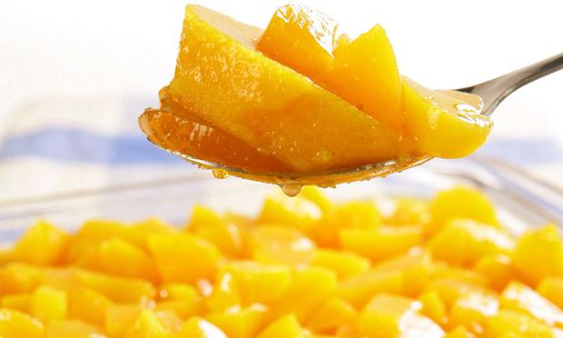 Gelatina cremosa de pêssego