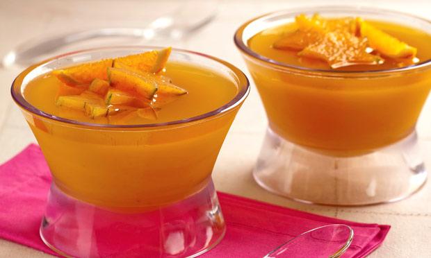Gelatina de laranja e carambola