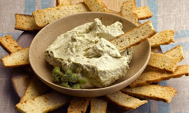 Pasta de queijo e brócolis