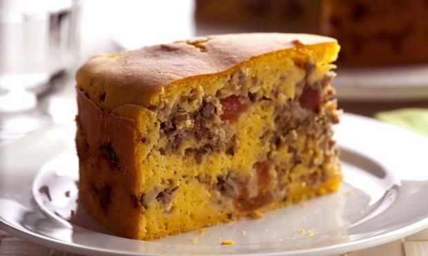 Torta de abóbora com carne moída