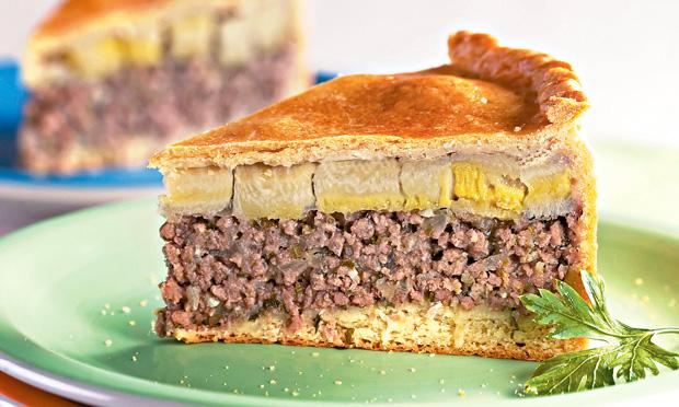 Torta de carne moída com banana