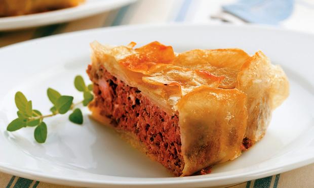 Torta de batata e carne moída