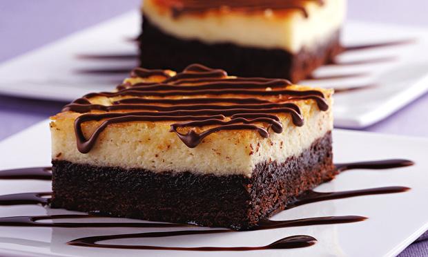 Torta gelada de brownie