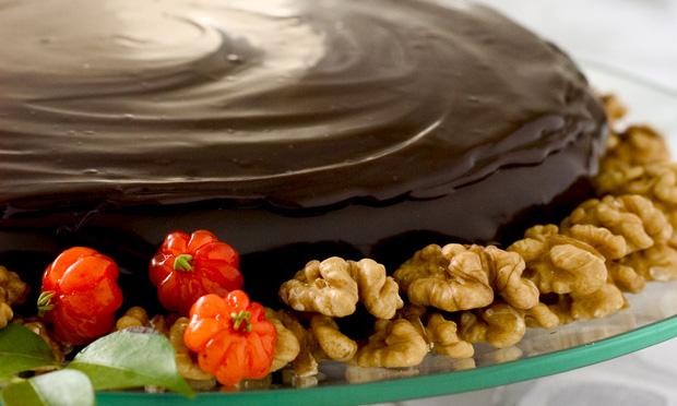 Torta-musse de chocolate