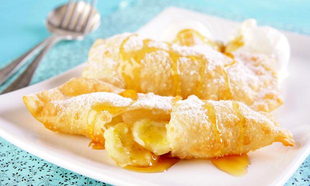 Tortinha frita de banana