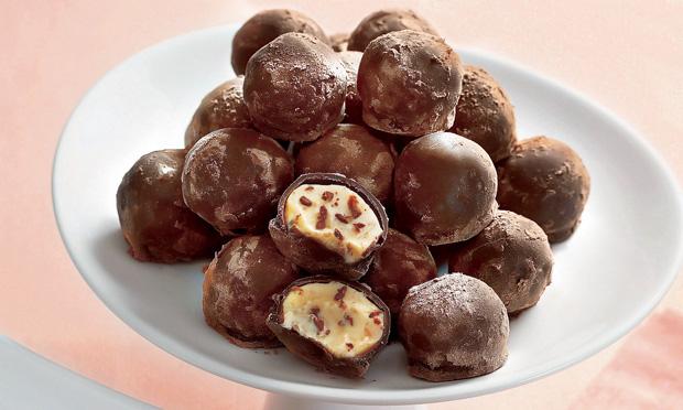 Trufas de flocos de chocolate