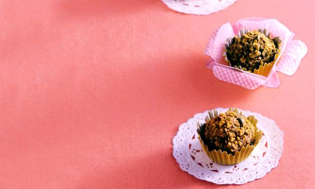 Trufas crocante com pistache