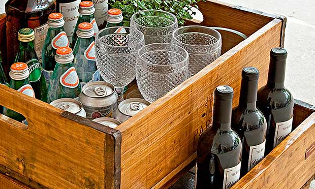 Caixas para copos e garrafas