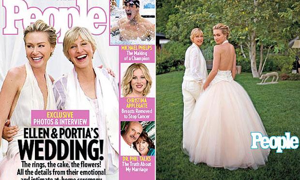 Vestido de noiva rosa Portia de Rossi