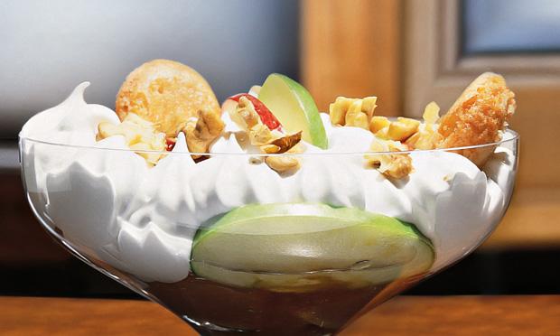 Maçã com merengue