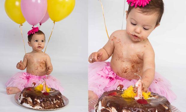 Smash the cake ensaio fotográfico