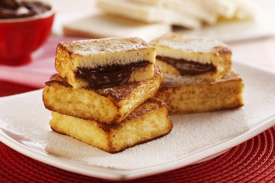 Sanduíche de rabanada e Nutella®: para qualquer refeição do dia