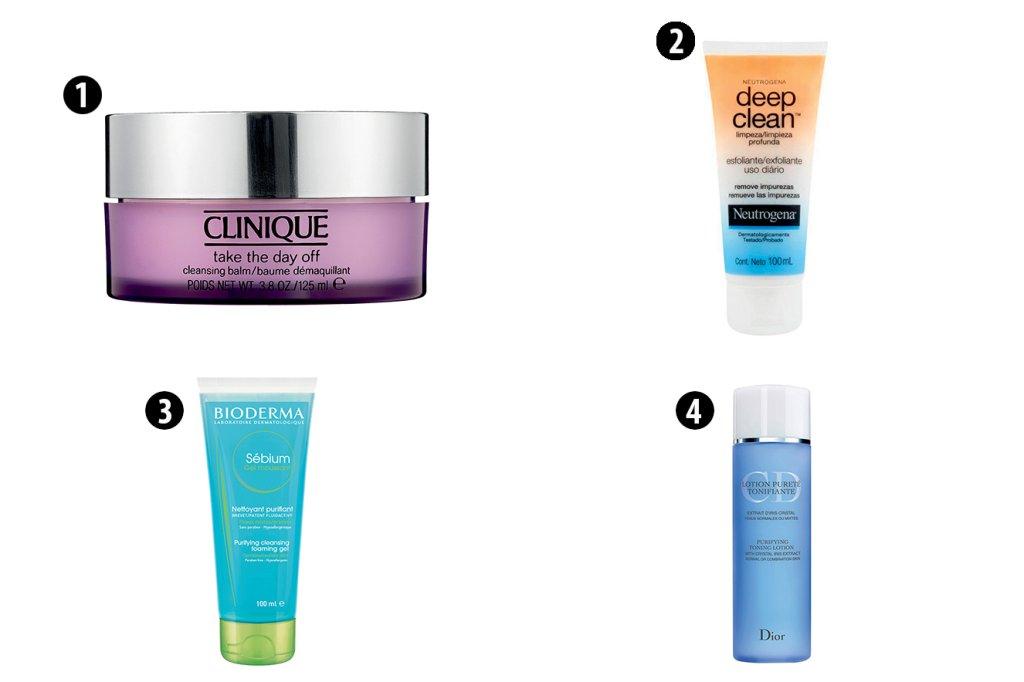 Produtos para limpeza de pele mista