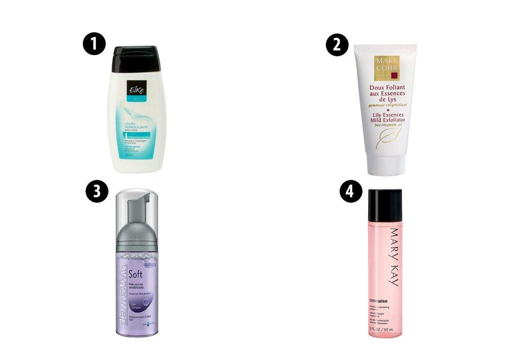 Produtos para limpeza de pele normal