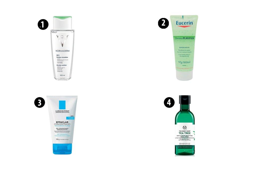 produtos para pele oleosa ou acneica