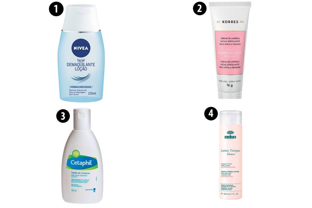 Produtos para limpeza de pele seca