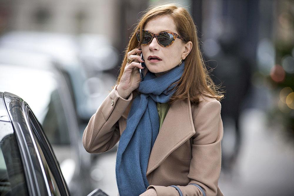 A atriz Isabelle Huppert interpreta Elle, uma vítima de estupro